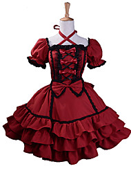 cheap -Gothic Lolita Dress Sweet Lolita Dress Princess Women's One Piece Dress Cosplay Red Puff/Balloon Short Sleeves