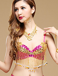 Shall We Belly Dance Tops Women Performance Sequined Sequins Bra