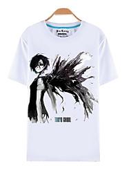 preiswerte -Inspiriert von Tokyo Ghoul Ken Kaneki Anime Cosplay Kostüme Cosplay-T-Shirt Druck Kurzarm Top Für Herrn