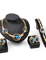 Women's Jewelry Set Multi-stone Rhinestone Personalized Euramerican Statement Jewelry Fashion Wedding Party Special Occasion Engagement