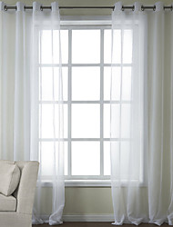 zwei Panele Window Treatment Modern , Solide Schlafzimmer Poly /  Baumwollmischung Stoff Gardinen Shades Haus Dekoration For Fenster