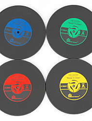 cheap -1Pcs Vintage Vinyl Coasters Groovy CD Record Table Bar Drinks Cup Mat (Ramdon Color)