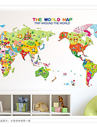 cheap -Fashion / History World Map Wall Decals Landscape / 3D Wall Stickers Plane Wall Stickers,pvc 50*70cm