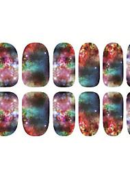 baratos -1pc Japão Harajuku o céu estrelado as unhas de cola para trás fatia adesivos 12 pós