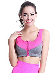 YUIYE® Hot Sale Women Sports Bra Yoga Underwear Ultra-thin Breathable Vest No Rims Running Fitness Bras Orange Rose