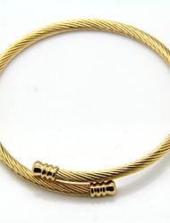 Pulseiras Bracelete Aço Inoxidável / Chapeado Dourado Casamento / Pesta / Diário / Casual Jóias Dom Prateado,1pç