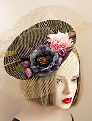 Недорогие -ткань шляпы головной убор свадебная вечеринка элегантный классический женский стиль