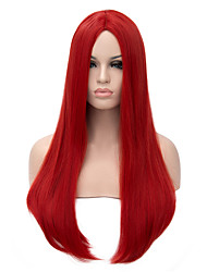 cheap -Synthetic Wig Straight Red Women's Capless Carnival Wig Halloween Wig Long Synthetic Hair