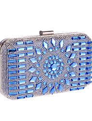 cheap -Women Bags Poly urethane Special Material Evening Bag Pearl Acrylic Jewels for Wedding Event/Party All Seasons Silver Gray Coffee Blue