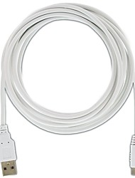 Nintendo Wii U GamePad USB Charging Cable - 10ft (White)