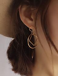 billige -Dame Geometrisk Stangøreringe - Europæisk, minimalistisk stil, Mode Sølv / Gylden Til Fest / Daglig / Afslappet