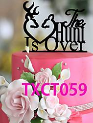 Недорогие -Украшения для торта Классика Монограмма Акрил Свадьба с 1 Пенополиуретан
