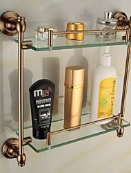 Недорогие -Полка для ванной / Полка для душа Сплав цинка Крепление на стену 16.5*5.3*15.4 inch Сплав цинка / Алюминий Античный
