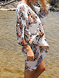 cheap -Women's Floral Halter Neck One-piece / Cover-Up - Multi Color / Reactive Print Modern Style Tie Side / One-Pieces