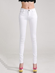 Women's Solid Candy Colors Slim Hin Thin Large Size Skinny Pants,Plus Size / Casual / Day