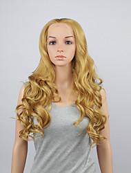 модные синтетические парики фронта шнурка 28inch волнистых отбеливатель блондинка термостойкий волосы парики женщин