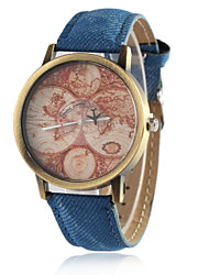 cheap -European Style Fashion Hot Retro Map of the World Plane Wrist Watch Cool Watches Unique Watches