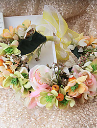 cheap -Fabric Flowers Wreaths Headpiece Wedding Party Elegant Feminine Style