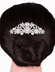 Недорогие -серебряные кристалл жемчужный волос расчески для свадебного банкета повелительницы ювелирных изделий