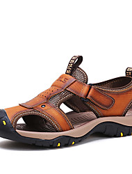 cheap -Men's Shoes Outdoor / Athletic / Casual Leather Sandals Brown / Khaki