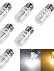 cheap -3W 3000/6000 lm E14 E26/E27 LED Corn Lights T 24 leds SMD 5730 Decorative Warm White Cold White AC 110-130V AC 220-240V