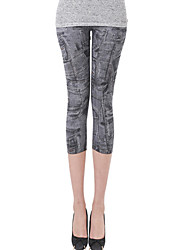 Hot Sale High Quality Women Print / Denim Legging,Polyester Thin