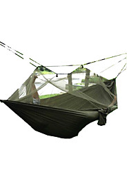 cheap -Hammock Outdoor Camping Ultra Light (UL), Quick Dry, Windproof Canvas / Nylon Hunting, Hiking, Fishing for 2 person