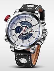 Недорогие -WEIDE Мужской Наручные часы электронные часы LCD Календарь Секундомер Защита от влаги С двумя часовыми поясами тревогаКварцевый Цифровой