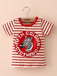 T-shirt Maschile A strisce Estate / Per tutte le stagioni / Primavera / Autunno Cotone