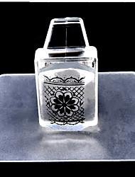 cheap -1set square transparent nail stamp tool nail set