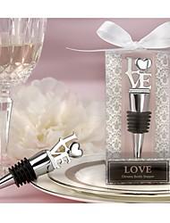 LOVE Chrome Bottle Stopper Wedding Favors, Bridesmaids Party Souvenirs