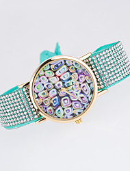 cheap -Women's Fashion Watch Quartz Rose Gold Plated Fabric Band Black White Blue Red Brown Green Pink Purple Rose