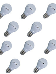 cheap -10pcs 5W 450lm E26 / E27 LED Globe Bulbs A60(A19) 10 LED Beads SMD 2835 Decorative Warm White Cold White 220-240V