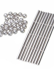 cheap -Magnet Toys Neodymium Magnet Super Strong Rare-Earth Magnets 63pcs 6mm Magnet Sphere Girls' Boys' Toy Kid's Adults' Gift