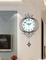 Modern Creative Fashion Metal Pendulum Mute Wall Clock Home Decoration