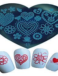 1pcs ongle art estampage modèle papillon fleur étoile belle image des outils d'art design d'ongle 11-15 en forme de cœur