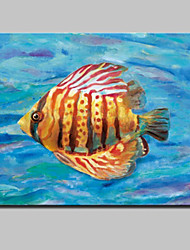 cheap -Lager Handpainted Modern Glofish Oil Painting On Canvas Wall Art For Living Room Home Decor Wall Paintings Whit Frame