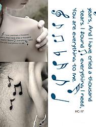 billiga -Vattentät / 3D tillfälliga tatueringar Art Deco / Retro 3D Body art Ansikte / händer / arm