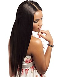 cheap -Peruvian Virgin Silky Straight Full Lace Human Hair Wigs with Baby Hair Be Ponytail For Women