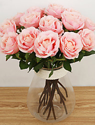 1 Branch Silk Roses Tabletop Flower Artificial Flowers