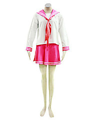 Inspired by LuckyStar Kagami Hiiragi Anime Cosplay Costumes Cosplay Suits School Uniforms Patchwork Long Sleeve Cravat Top Skirt For