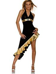 Costumes de Cosplay Uniformes Fête / Célébration Déguisement d'Halloween Doré Noir Mosaïque Robe Polyester