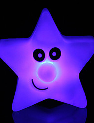 abordables -créatif changeant de couleur acrylique lumière d'étoile coloré cinq étoiles a mené la lumière de nuit petite lanterne décoration de la