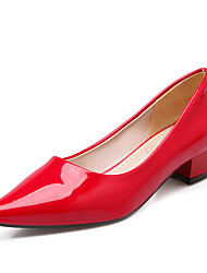 cheap -Women's Shoes Patent Leather Spring / Summer / Fall Basic Pump Chunky Heel Red / Green / Blue / Dress