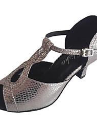 Scarpe da ballo-Personalizzabile-Da donna-Balli latino-americani Liscio-Tacco su misura-Finta pelle