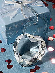 cheap -Crystal Heart Paperweight Wedding Favors