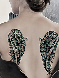 cheap -Fashion Large Temporary Tattoos Sexy Body Art Waterproof Tattoo Stickers Wings 2PCS