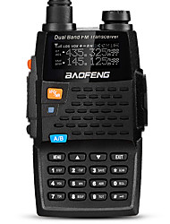 baratos -BAOFENG UV-5R 4TH Portátil / Digital Comando por Voz / Dual Band / Dual Display 1,5 - 3 km 1,5 - 3 km 128 2800mAh 5/1 W Walkie Talkie Dois canais de rádio