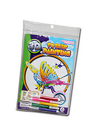 Недорогие -поделок творческие поделки бесплатно живопись трехмерные игрушки головоломки (с 5 цветными карандашами)