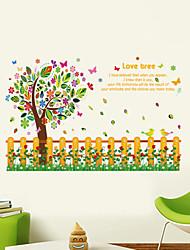 Недорогие -Пейзаж Животные Романтика Мода Геометрия Цветы Праздник Слова и фразы Мультипликация фантазия ботанический Наклейки Простые наклейки